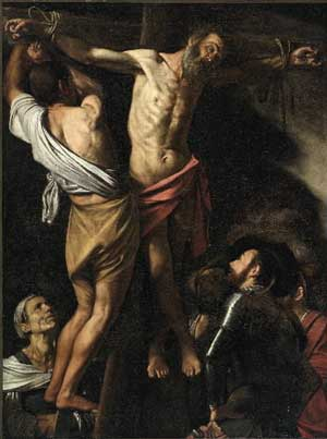 "Bargaining chip: Caravaggio, ""Crucifixion of Saint Andrew,"""