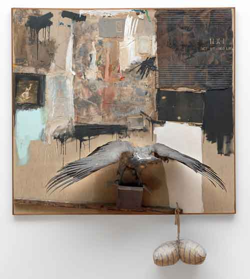 "Robert Rauschenberg, ""Canyon,"" 1959 ©2012 Museum of Modern Art Photo by John Wronn"