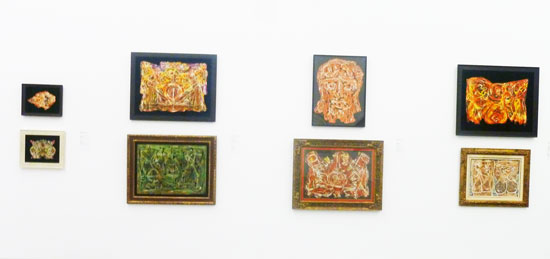 """""""Victorias"""" watercolors by Alfonso Ossorio, as installed at the Parrish Art Museum Photo by Lee Rosenbaum"""