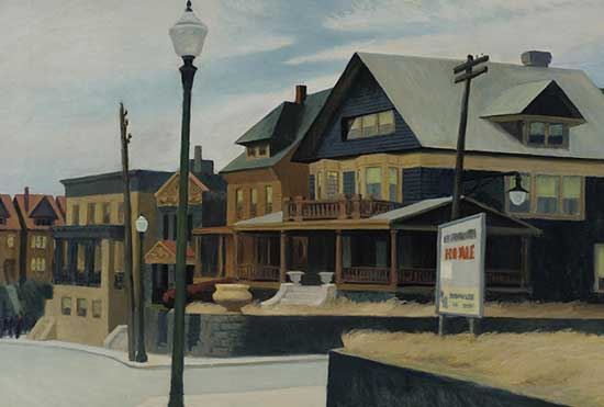 Going, going... Edward Hopper, East Wind Over Weehawkin, 1934, Pennsylvania Academy of the Fine Arts