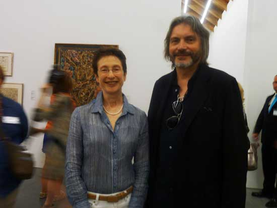 Terrie Sultan, director, Parrish Art Museum and Klaus Ottmann, curator-at-large, Phillips Collection Photo by Lee Rosenbaum