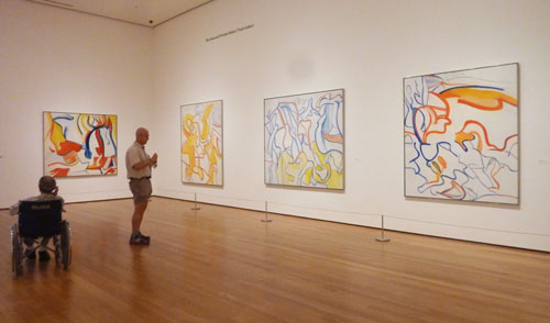 "Installation shot from MoMA's 2011 ""de Kooning: A Retrospective"" Photo by Lee Rosenbaum"