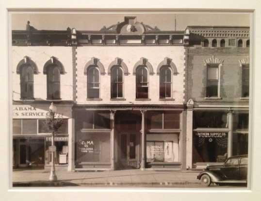 """Main Street block, Selma Alabama,"" 1936 Photo (of Evans' photo) by Lee Rosenbaum"
