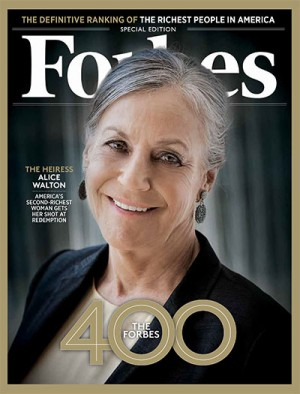 Alice Walton, ranked 8th on the Forbes 400