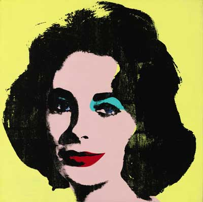 "Warhol, ""Liz #1 (Early Colored Liz),"" 1963 Presale estimate: $20-$30 million 2013 Andy Warhol Foundation for the Visual Arts/Artists Rights Society (ARS), New York"