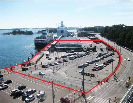 Guggenheim Helsinki's proposed waterfront site