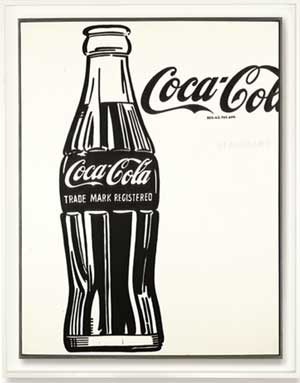 "Andy Warhol, ""Coca Cola (3),"" 1962 Presale estimate: $40-60 million"
