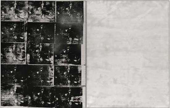 "Andy Warhol, ""Silver Car Crash (Double Disaster),""  Presale estimate: in excess of $60 million Image Courtesy Thomas Ammann Fine Art AG"