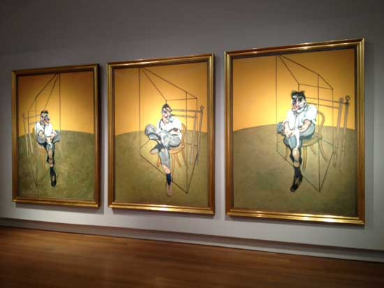 "Francis Bacon, ""Three Studies of Lucian Freud,"" 1969 Presale estimate: In excess of $85 million Photo by Lee Rosenbaum"