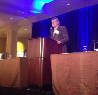 Graham Beal, director of Detroit Institute of Arts,, addressing AAMD's midwinter meeting Photo from @MuseumDirectors Twitter feed