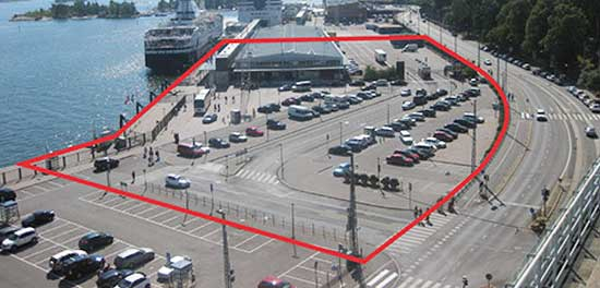 Parking lot designated as site for possible Guggenheim Helsinki  Photo by Ari Wiseman