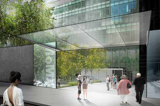 Concept sketch for Sculpture Garden entrance on 54th Street  © 2014 Diller Scofidio + Renfro
