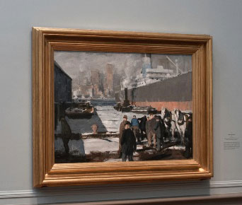 "George Bellows, ""Men of the Docks,"" 1912, as installed last year in exhibition at National Gallery, Washington Photo: Rob Shelley, © 2012 National Gallery, Washington"