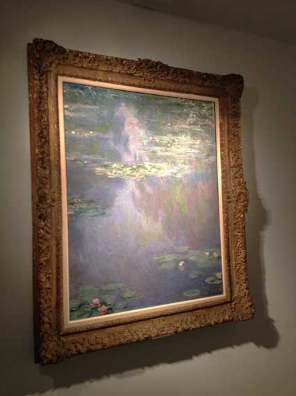 "Monet, ""TK,""  Presale estimate: $25-$35 millon at Christie's, May TK Photo by Katya Kazakina"