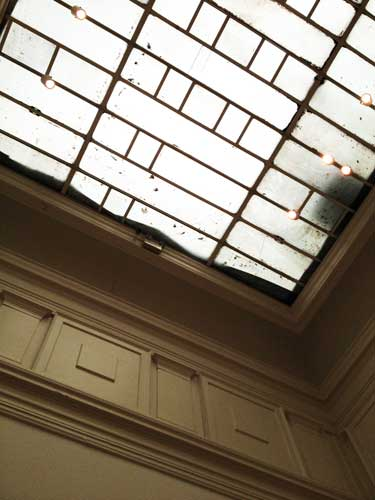 Damaged skylight at the Corcoran Photo by Lee Rosenbaum