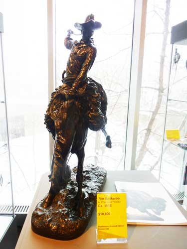 "Reproduction of Proctor's ""Buckaroo"" in Denver Art Museum's giftshop Photo by Lee Rosenbaum"