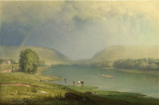 "George Inness, ""The Delaware Water Gap,"" c. 1857, National Ballery, London"