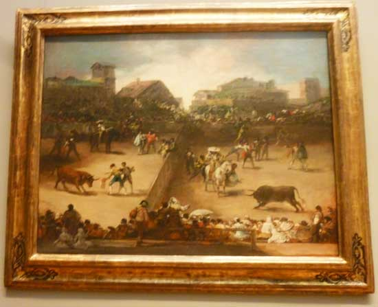 "Attributed to Goya, ""Bullfight in a Divided Ring,"" Metropolitan Museum Photo by Lee Rosenbaum"