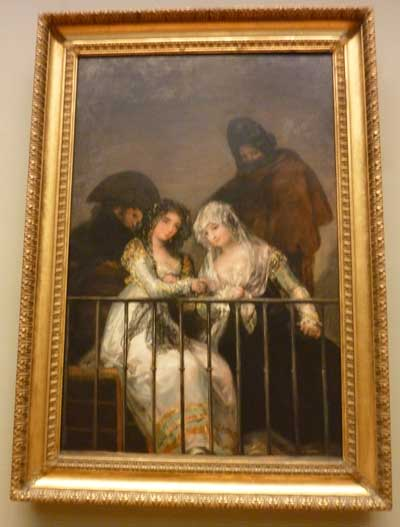 "Attributed to Goya, ""Majas on a Balcony,"" c. 1800-1810, Metropolitan Museum Photo by Lee Rosenbaum"