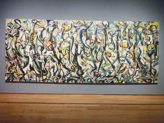 "Jackson Pollock, ""Mural,"" 1943, at Getty Museum Photo by Lee Rosenbaum"