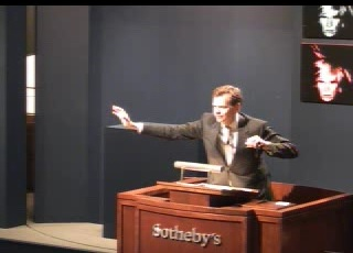 Oliver Barker, auctioneer at tonight's contemporary art sale at Sotheby's