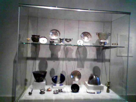 Hellenistic Silver Hoard, including 16 objects that were returned to Italy by the Met Photo by Lee Rosenbaum