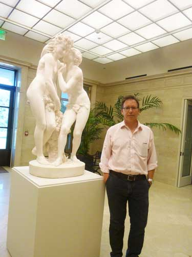Senior curator Richard Rand with new Carpeaux acquisition All photos by Lee Rosenbaum