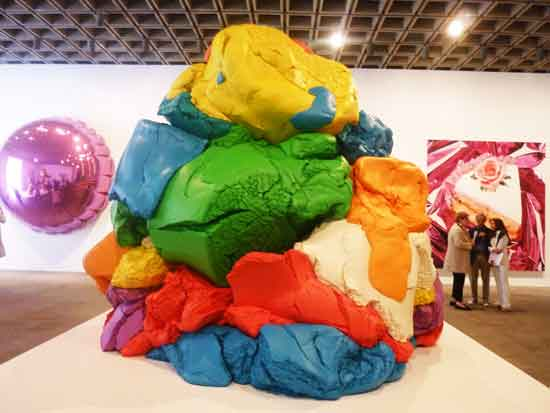 "Jeff Koons, ""Play-Doh,"" 20TK-2014, Collection of TK Bell Photo by Lee Rosenbaum"