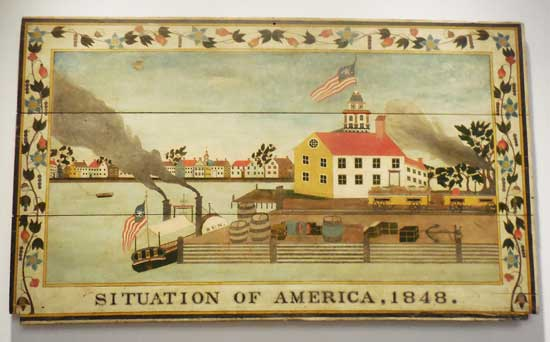 """Situation of America, 1848,"" artist unidentified Photo by Lee Rosenbaum"
