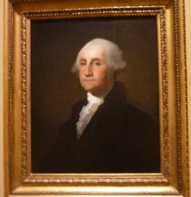 "Gilbert Stuart, ""George Washington,"" c. 1803, Corcoran Gallery Photo by Lee Rosenbaum"