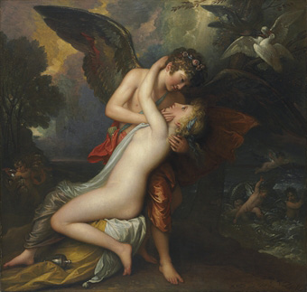 "Benjamin West, ""Cupid and Psyche,"" 1808 Sold by the Corcoran on Jan. 28, 2009 for for $458,500"