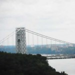 View from my terrace: Fort Lee side of George Washington Bridge Photo by Lee Rosenbaum