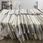 Photo of submissions that accompanied Guggenheim's announcement of 1,715 submissions