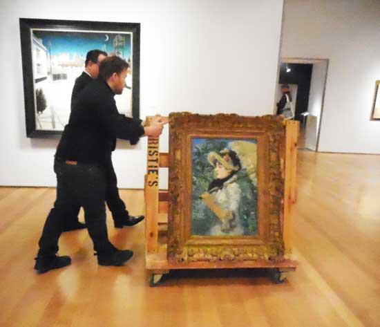 """Manet, """"Le Printemps,"""" 1881 (Presale estimate: $25-35 million) Photo by Lee Rosenbaum"""