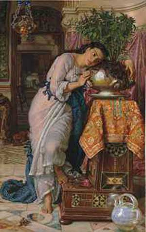 """William Holman Hunt, """"Isabella and the Pot of Basil""""  Sold at Christie's London for £2.88 million ($4.89 million)"""