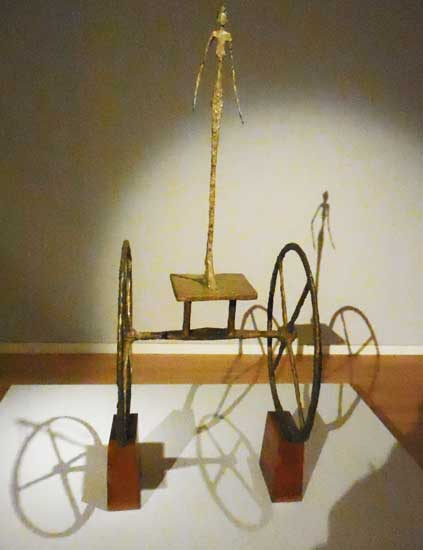 """Giacometti, """"Chariot,"""" conceived 1950; cast 1951-2 Photo by Lee Rosenbaum"""