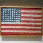"""Jasper Johns, """"Flag,"""" 1983 Sold for $36 million ($32 million hammer against presale estimate of $15-20 million) Photo by Lee Rosenbaum"""
