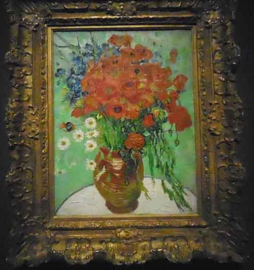 """van Gogh, """"Vase aux Marguerites et Coquelicots, 1890 Presale estimate: $30-50 million Photo by Lee Rosenbaum"""