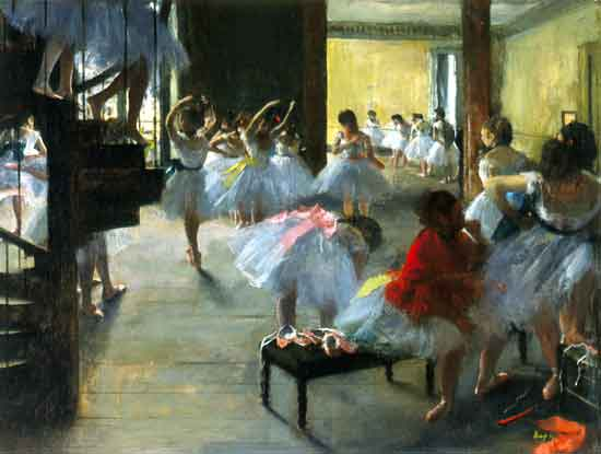 "Edgar Degas, ""The Dance Class,"" c. 1873 Trustees of the Corcoran Collection (William A. Clark Collection)"
