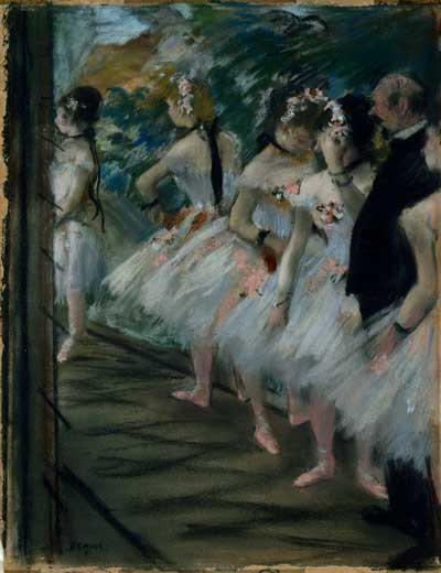 "Edgar Degas, ""The Ballet,"" pastel, c. 1880 Trustees of the Corcoran Collection (William A. Clark Collection)"