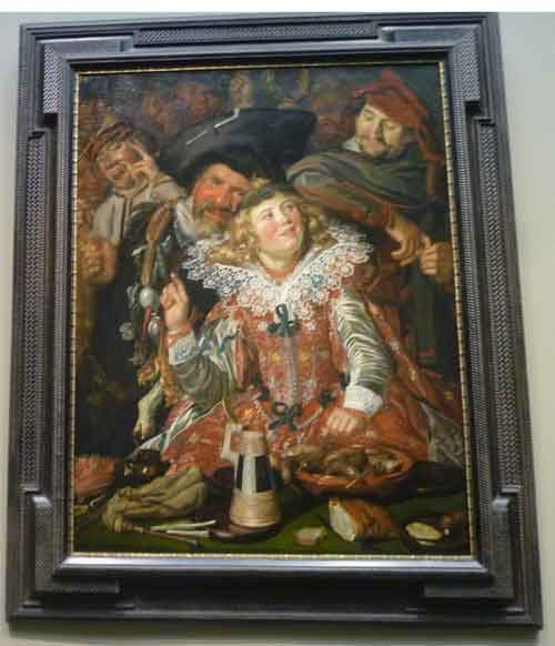 "Frans Hals, ""Merrymakers at Shrovetide,"" c. 1616, Metropolitan Museum Photo by Lee Rosenbaum"