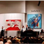 The scene last night at Sotheby's