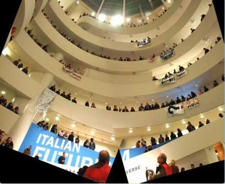 Protest inside the Guggenheim Museum on Feb. 22, 2014