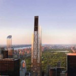 Rendering of the in-construction 53W53 tower, adjoining MoMA