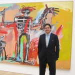 Peter Brant at his foundation's Art Study Center, with his Basquiat Photo by Lee Rosenbaum