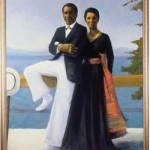 "Simmie Knox, ""Portrait of Bill and Camille Cosby,"" 1984 Collection of Camille O. and William H. Cosby Jr. Photo by David Stansbury"