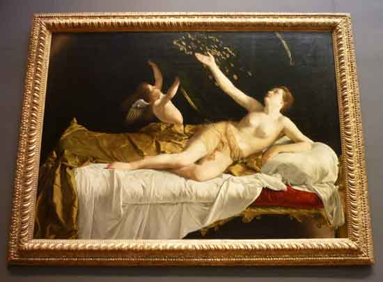 "Orazio Gentileschi, ""Danaë,"" 1621-22 Photo by Lee Rosenbaum"