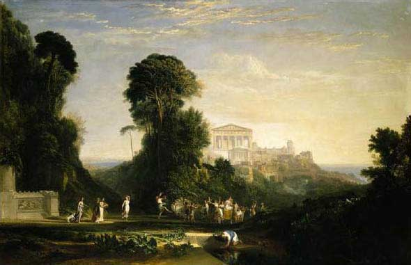 "Turner, ""The Temple of Jupiter Panellenius,"" 1816 $12.96 million at Sotheby's, January 2009; shown at the Met, July-September 2008"