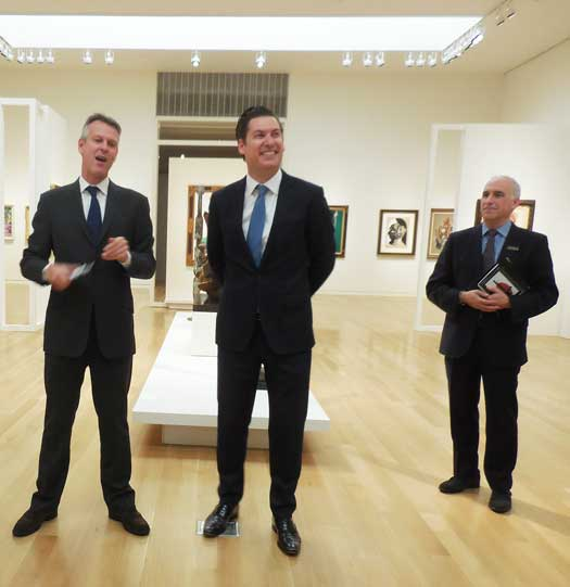 Simon Shaw, Alexander Rotter and David Norman at Sotheby's November press preview Photo by Lee Rosenbaum