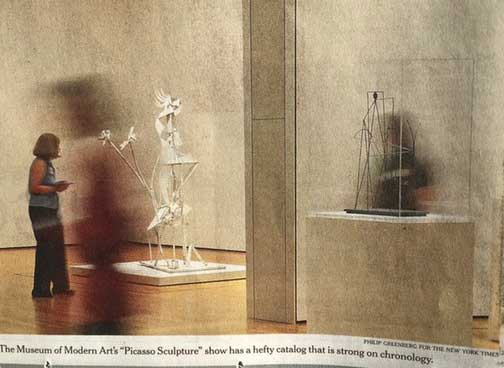 "My cameo in the New York Times piece on MoMA's ""Picasso Sculpture"